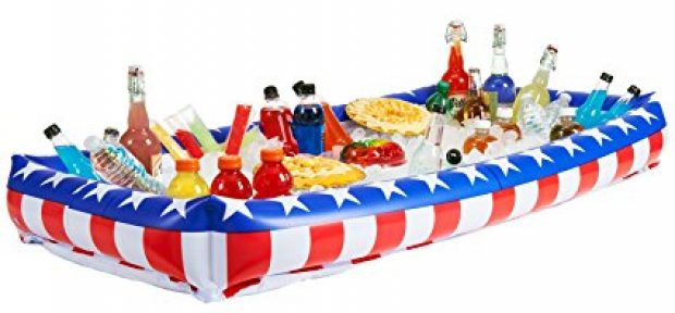 This patriotic inflatable cooler is a #1 bestseller (Photo via Amazon)