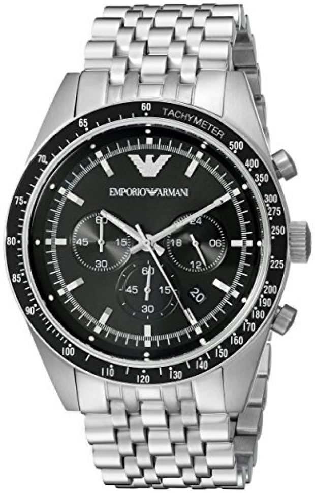 Normally $325, this Emporio Armani watch is 54 percent off today (Photo via Amazon)
