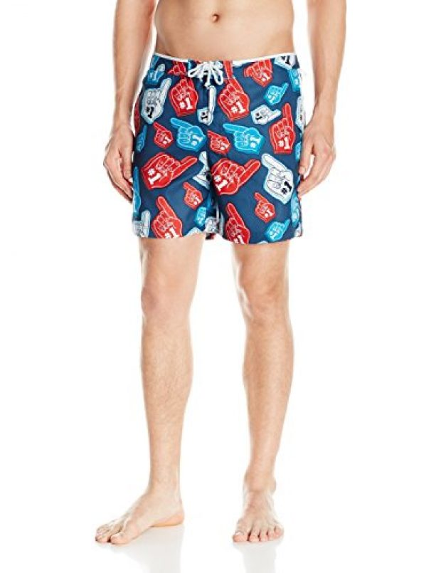 Normally $79, these foam finger trunks are 47 percent off today (Photo via Amazon)