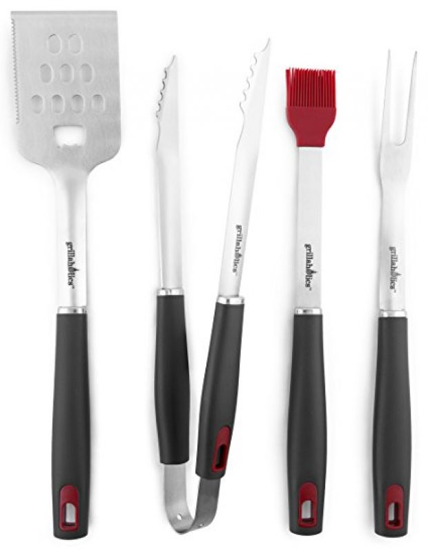 Normally $70, this #1 most popular grill tools set is 64 percent off (Photo via Amazon)