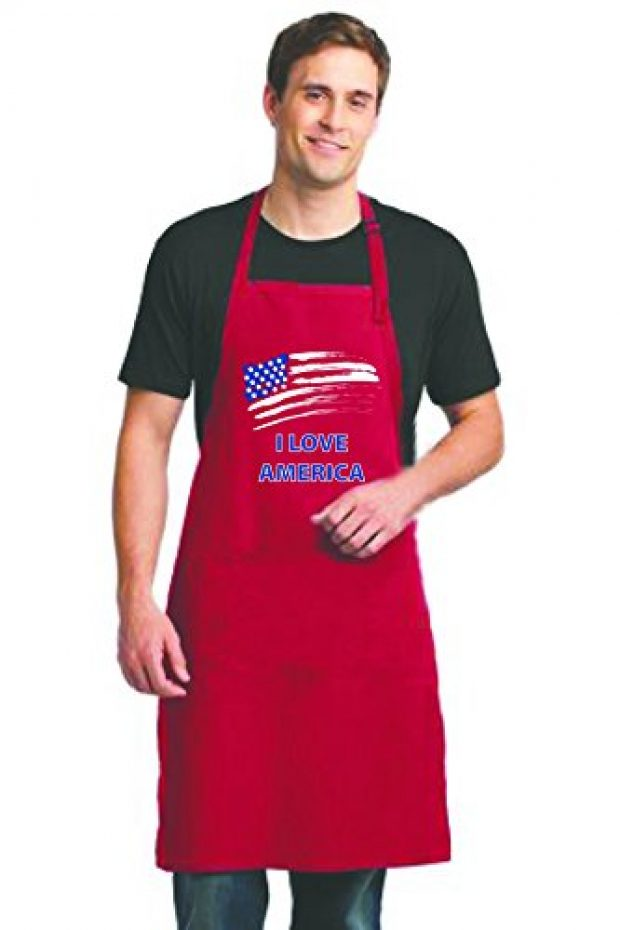 This patriotic grilling apron can be delivered in two days with Amazon Prime (Photo via Amazon)