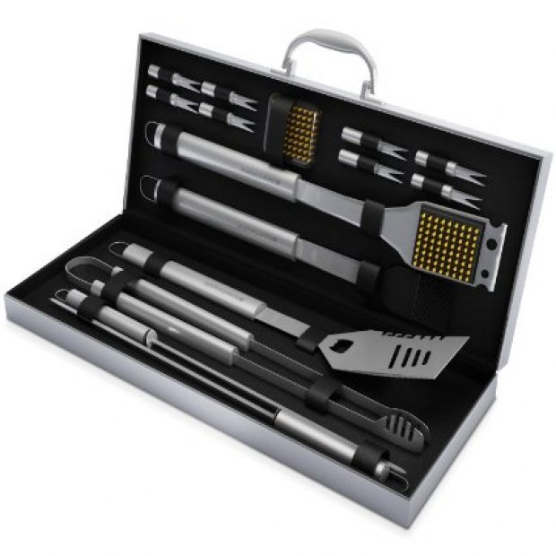 Normally $87, this grill tools set is 72 percent off for the next two hours, or until 100 percent claimed (Photo via Amazon)