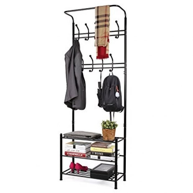 Normally $110, this 3-tier coat rack is 55 percent off (Photo via Amazon)