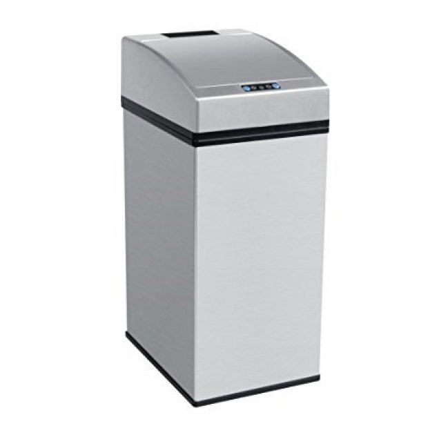 Normally $110, this touch-free trash can is 65 percent off (Photo via Amazon)
