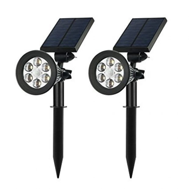 Normally $53, these outdoor solar lights are 39 percent off with this code (Photo via Amazon)