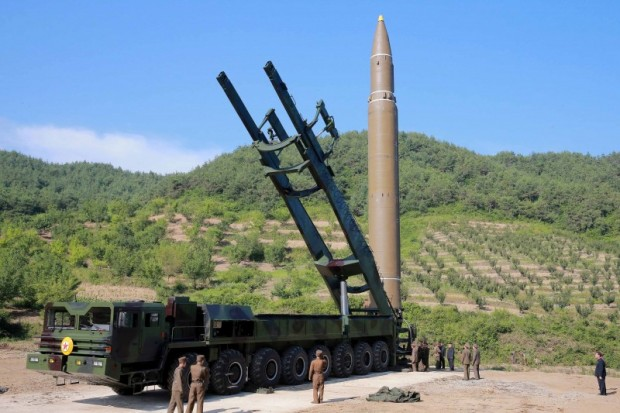 The intercontinental ballistic missile Hwasong-14 is seen in this undated photo released by North Korea's Korean Central News Agency (KCNA) in Pyongyang July 5, 2017. KCNA/via REUTERS