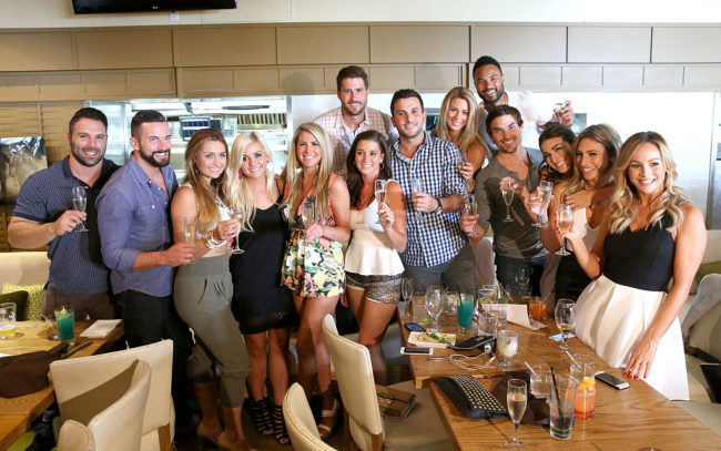 "The cast of 'Bachelor in Paradise' Season 2 attends the ""Bachelor In Paradise"" Returns To Mexico For Season 2 Premiere Party at Mixology101 on August 2, 2015 in Los Angeles. (Photo by Jesse Grant/Getty Images for Leisure Opportunities)"
