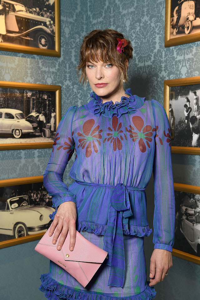 PARIS, FRANCE - JULY 02: Milla Jovovich attends Miu Miu Cruise Collection show as part of Haute Couture Paris Fashion Week on July 2, 2017 in Paris, France. (Photo by Pascal Le Segretain/Getty Images)