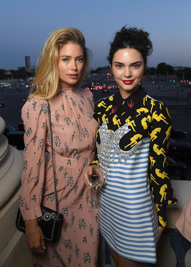 PARIS, FRANCE - JULY 02: Doutzen Kroes and Kendall Jenner attends Miu Miu Cruise Collection show as part of Haute Couture Paris Fashion Week on July 2, 2017 in Paris, France. (Photo by Pascal Le Segretain/Getty Images)