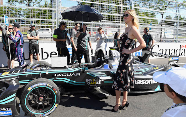 MONTREAL, CANADA - JULY 29: Kate Upton at the Montreal ePrix with FIA Formula E CEO Alejandro Agag during the Monrtreal ePrix, eleventh round of the 2016/17 FIA Formula E Series on July 29, 2017 in Montreal, Canada. (Photo by Sam Bagnall/LAT Images)
