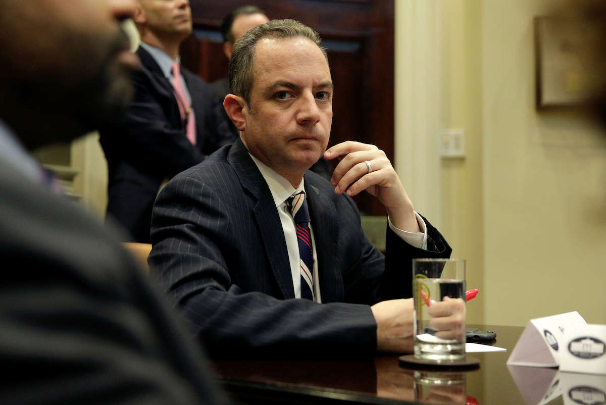 Reince Priebus has a salary of $179,700 as the chief of staff (REUTERS/Joshua Roberts)