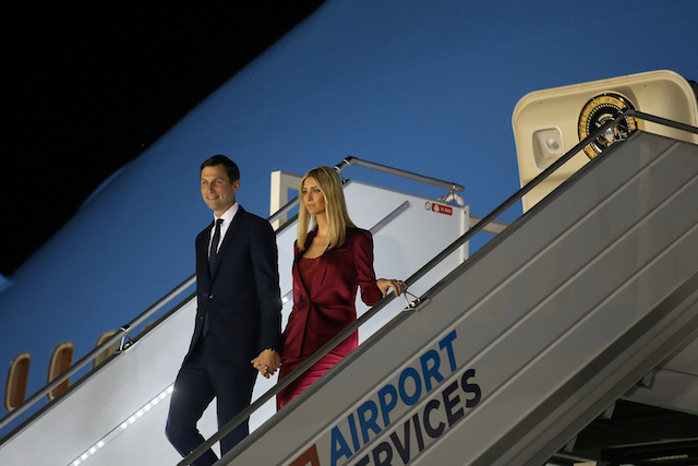 Ivanka Trump and White House senior advisor Jared Kushner arrive accompanying the U.S. President Donald Trump and First Lady Melania Trump (not pictured) at Warsaw Chopin Airport in Warsaw, Poland, July 5, 2017. REUTERS/Carlos Barria - RTX3A7E2
