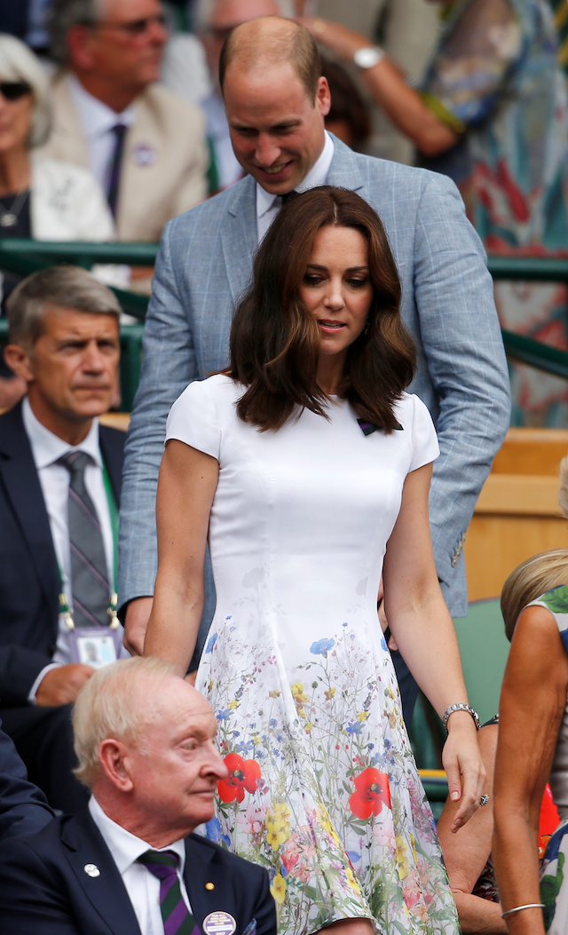 Tennis - Wimbledon - London, Britain - July 16, 2017 Britainís Prince William and Catherine, the Duchess of Cambridge in the royal box on centre court before the men's final REUTERS/Andrew Couldridge - RTX3BNKA