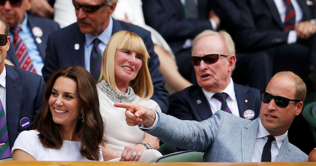 Tennis - Wimbledon - London, Britain - July 16, 2017 Britainís Prince William and Catherine, the Duchess of Cambridge in the royal box on centre court before the men's final REUTERS/Andrew Couldridge - RTX3BNL8
