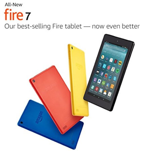 Normally $50, the 8GB Fire 7 tablet is 40 percent off for Prime Day (Photo via Amazon)