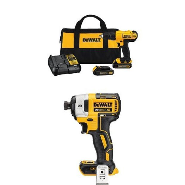Normally $225, this drill/driver kit bundle is 25 percent off today (Photo via Amazon)