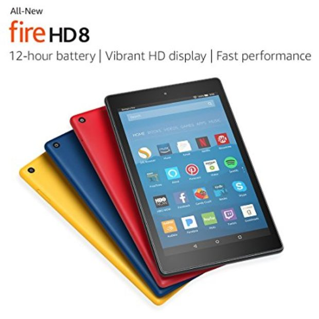 Normally $80, 16GB Fire HD 8 is 38 percent off today (Photo via Amazon)