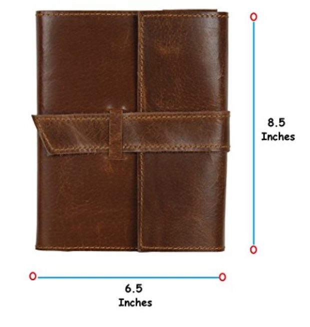 Normally $99, this leather journal is 80 percent off today (Photo via Amazon)