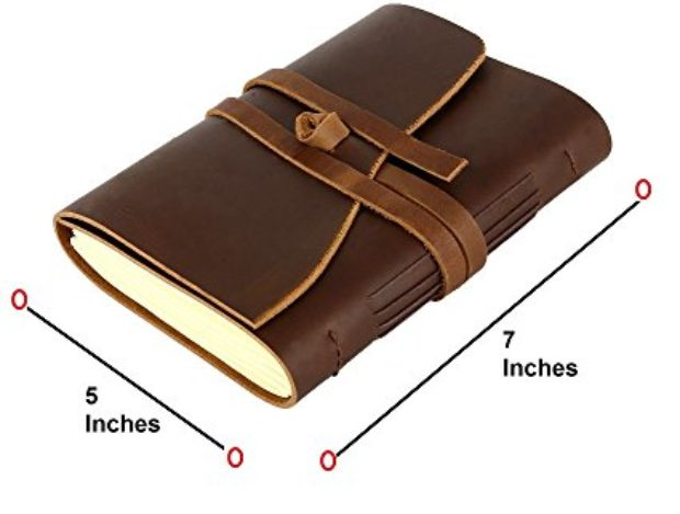 Normally $139, this leather journal is 83 percent off today (Photo via Amazon)