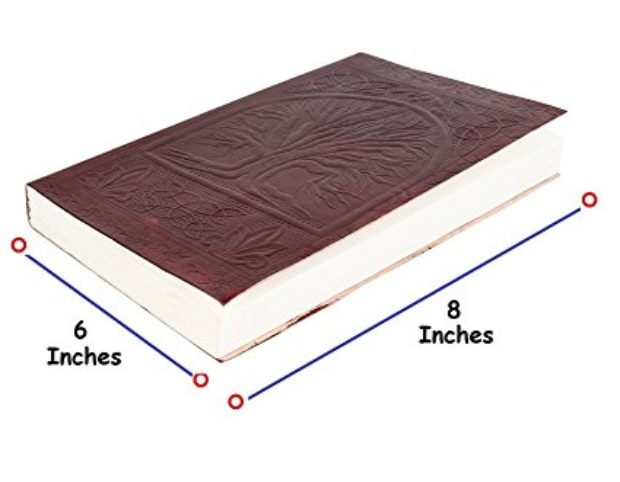 Normally $79, this leather journal is 80 percent off today (Photo via Amazon)