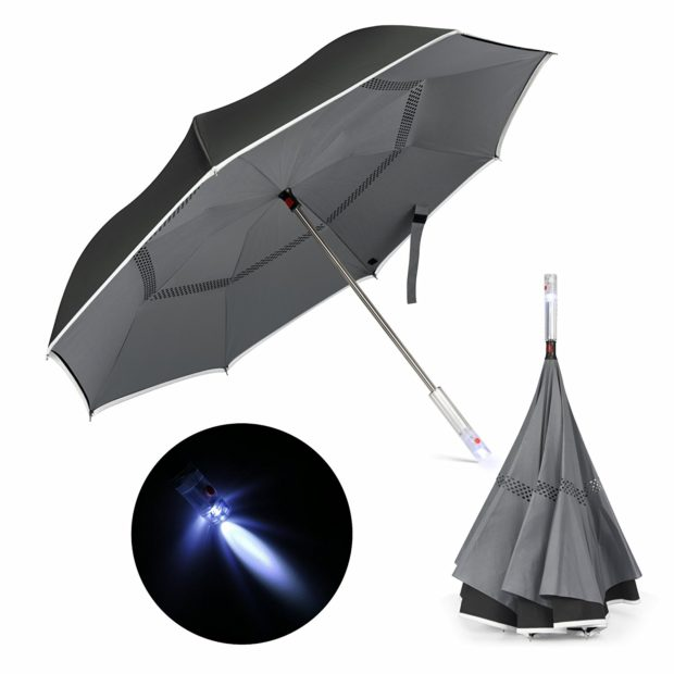 Normally $39, this inverted umbrella is 51 percent off with this code (Photo via Amazon)