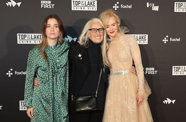 SYDNEY, AUSTRALIA - AUGUST 01: Alice Englert, Jane Campion and Nicole Kidman arrive ahead of the Top of the Lake: China Girl Australian Premiere at Sydney Opera House on August 1, 2017 in Sydney, Australia. (Photo by Mark Metcalfe/Getty Images)