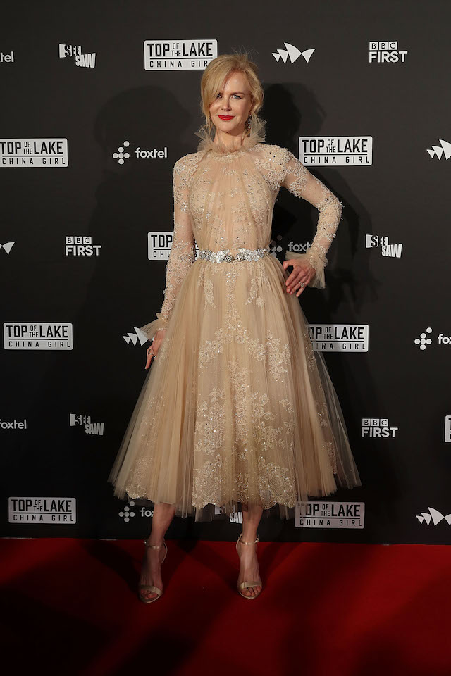SYDNEY, AUSTRALIA - AUGUST 01: Nicole Kidman arrives ahead of the Top of the Lake: China Girl Australian Premiere at Sydney Opera House on August 1, 2017 in Sydney, Australia. (Photo by Mark Metcalfe/Getty Images)