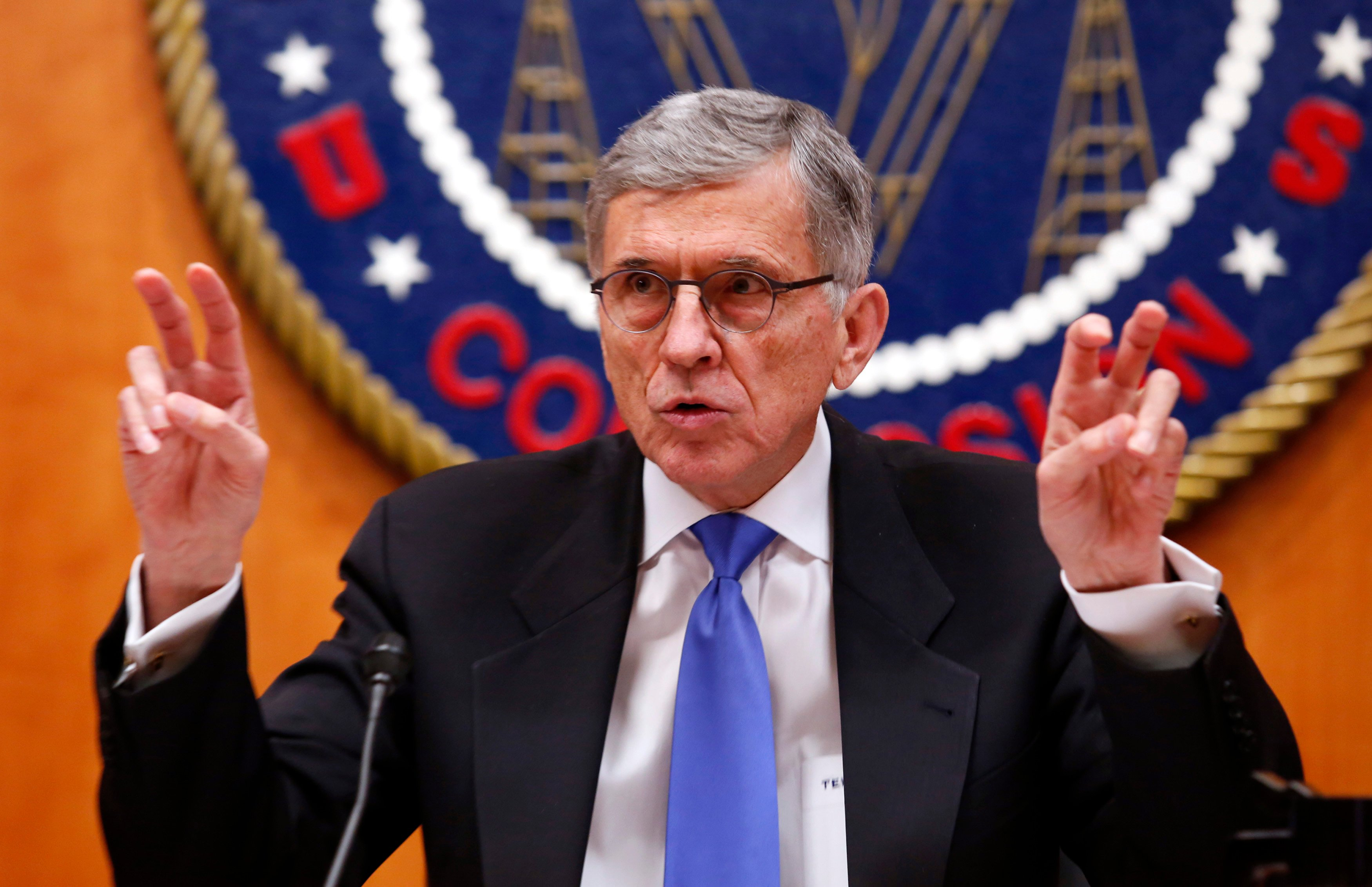"Federal Communications Commission (FCC) Chairman Tom Wheeler just days before he approves the ""net neutrality"" rules.[REUTERS/Yuri Gripas]"
