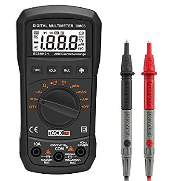 Normally $40, this digital multimeter is 74 percent off with this code (Photo via Amazon)