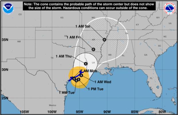 Tropical Storm Harvey Forecast