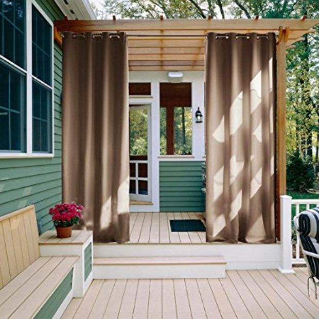 Normally $160, these outdoor curtains are 71 percent off (Photo via Amazon)