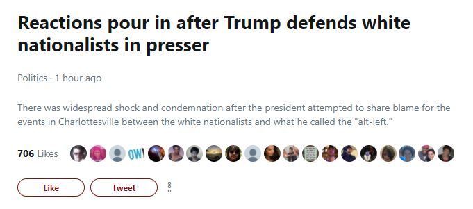 Twitter Moments Charlottesville Trump Presser (Screenshot: Twitter)