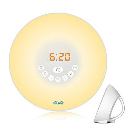 Normally $69, this sunrise alarm clock is 58 percent off (Photo via Amazon)