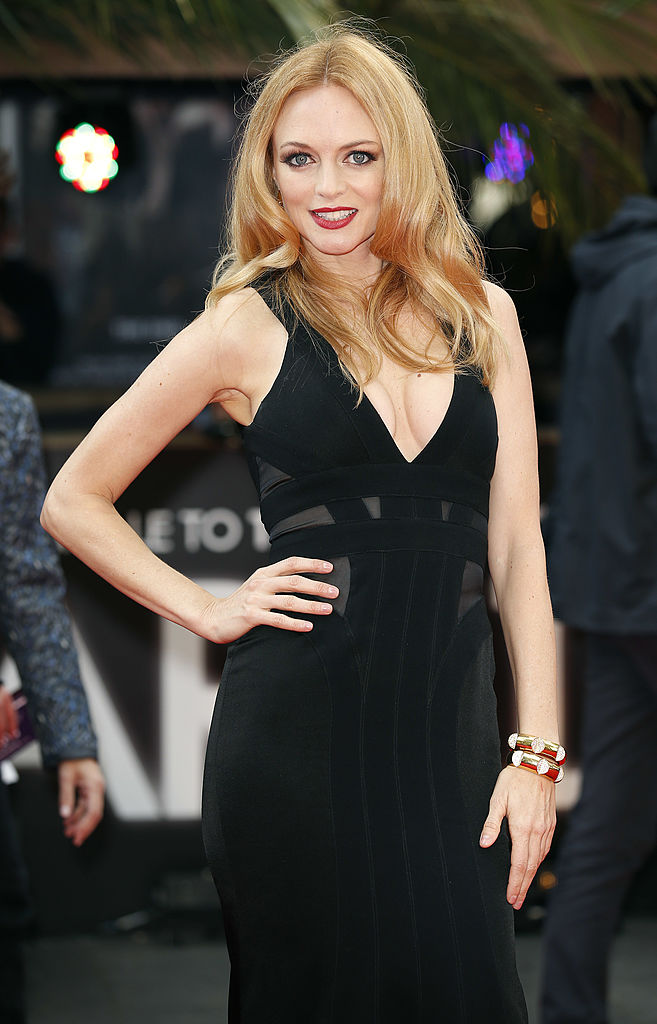 Heather Graham on the red carpet during the European Premiere of 'The Hangover Part 3' in London. (Photo credit should read JUSTIN TALLIS/AFP/Getty Images)