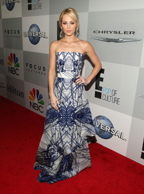 BEVERLY HILLS, CA - JANUARY 11: Actress Laura Vandervoort attends Universal, NBC, Focus Features and E! Entertainment 2015 Golden Globe Awards After Party sponsored by Chrysler and Hilton at The Beverly Hilton Hotel on January 11, 2015 in Beverly Hills, California. (Photo by Jesse Grant/Getty Images for NBCUniversal)