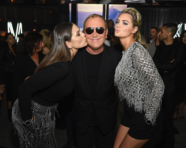 NEW YORK, NY - SEPTEMBER 13: (L-R) Ashley Graham, Michael Kors, and Kate Upton attend Michael Kors and Google Celebrate new MICHAEL KORS ACCESS Smartwatches at ArtBeam on September 13, 2017 in New York City. (Photo by Dimitrios Kambouris/Getty Images for Michael Kors)