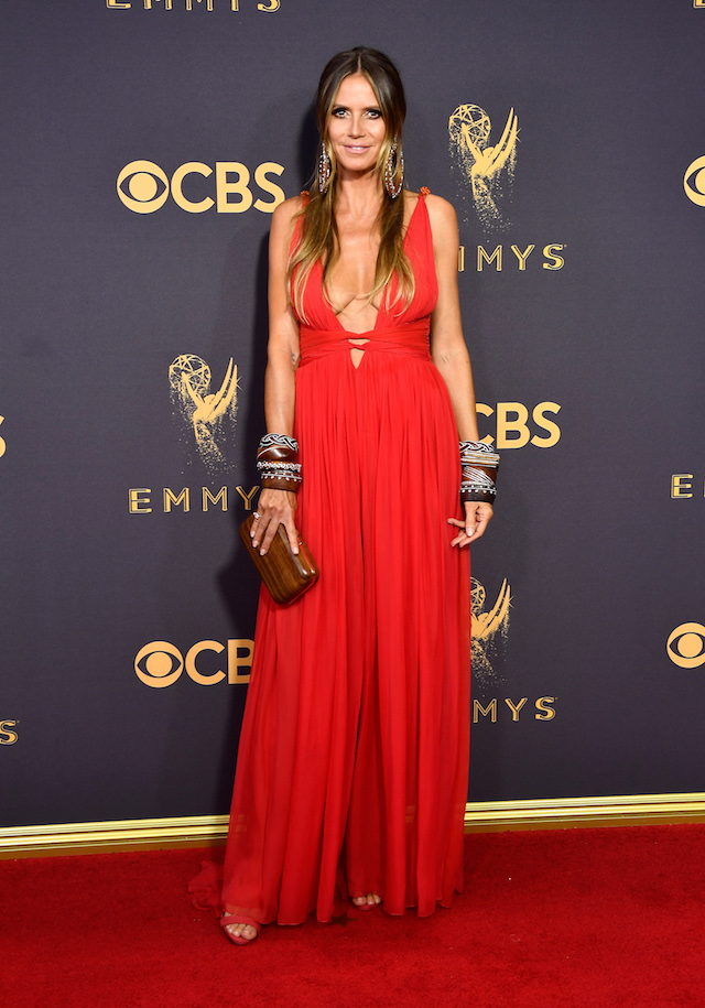 LOS ANGELES, CA - SEPTEMBER 17: TV personality Heidi Klum attends the 69th Annual Primetime Emmy Awards at Microsoft Theater on September 17, 2017 in Los Angeles, California. (Photo by Frazer Harrison/Getty Images)