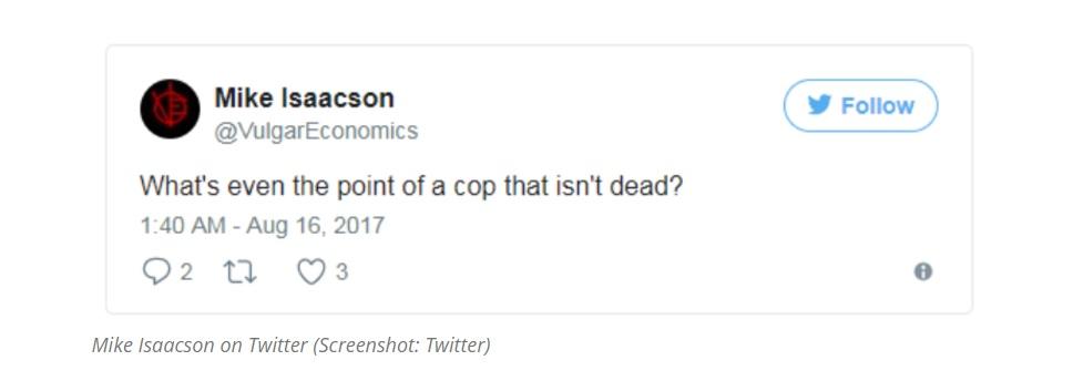 Isaacson deleted tweet image