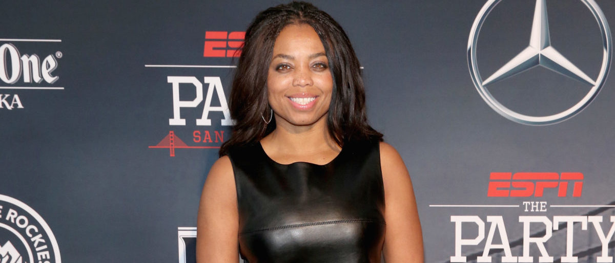ESPN columnist Jemele Hill attends ESPN The Party on February 5, 2016 in San Francisco, California. (Photo by Robin Marchant/Getty Images for ESPN)