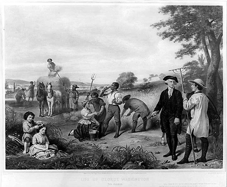 Life of George Washington the farmer painting by Junius Brutus Stearns public domain