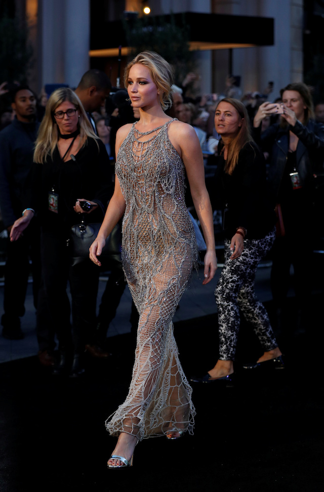 PHOTOS: Jennifer Lawrence Stuns On Red Carpet In See-Through