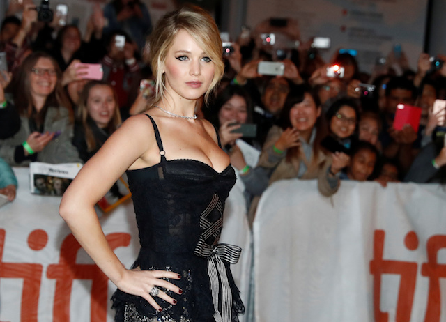 """Actor Jennifer Lawrence arrives on the red carpet for the film """"Mother!"""" at the Toronto International Film Festival (TIFF), in Toronto, Canada, September 10, 2017. REUTERS/Mark Blinch - RC1355BB1B00"""