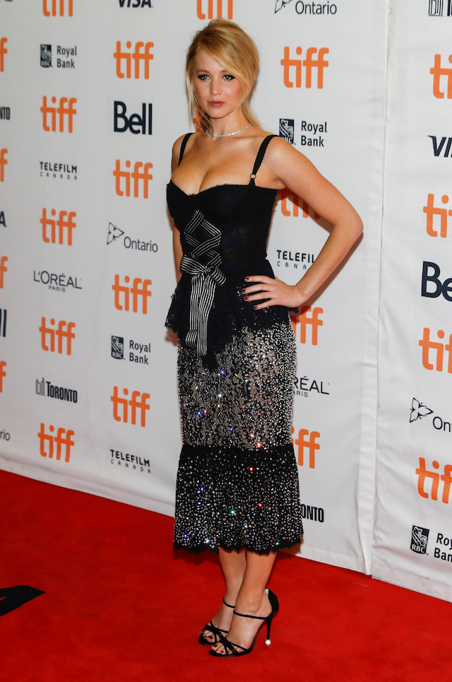 """Actor Jennifer Lawrence arrives on the red carpet for the film """"Mother!"""" at the Toronto International Film Festival (TIFF), in Toronto, Canada, September 10, 2017. REUTERS/Mark Blinch - RC13A5C5D7E0"""