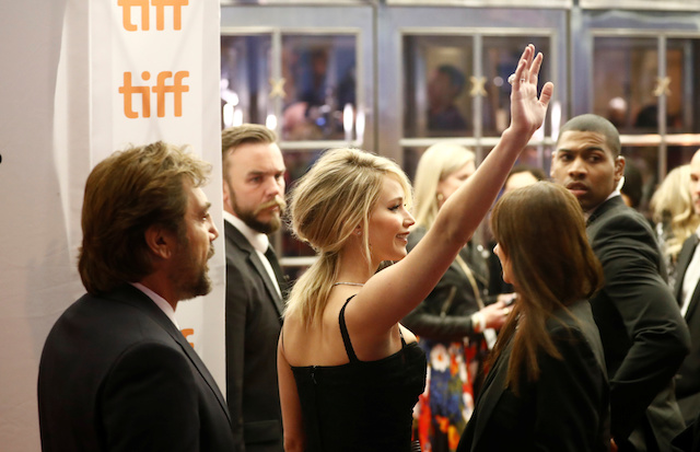 """Actor Jennifer Lawrence arrives on the red carpet for the film """"Mother!"""" at the Toronto International Film Festival (TIFF), in Toronto, Canada, September 10, 2017. REUTERS/Mark Blinch - RC1CB8EA19A0"""