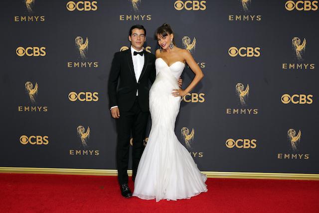 69th Primetime Emmy Awards ñ Arrivals ñ Los Angeles, California, U.S., 17/09/2017 - Sofia Vergara and Manolo Gonzalez-Ripoll Vergara. REUTERS/Mike Blake - HP1ED9H1RHEL8