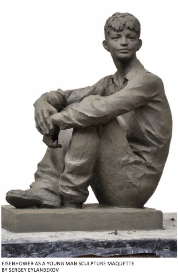Young Eisenhower sculpture (Image: Eisenhower Memorial Commission/ the National Capital Planning Commission)