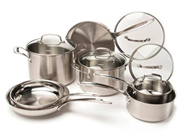 Normally $465, this cookware set is 72 percent off today (Photo via Amazon)