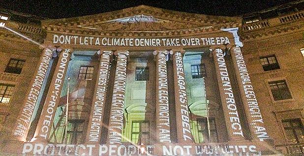 EPA Light Show Photo: Myron Ebell