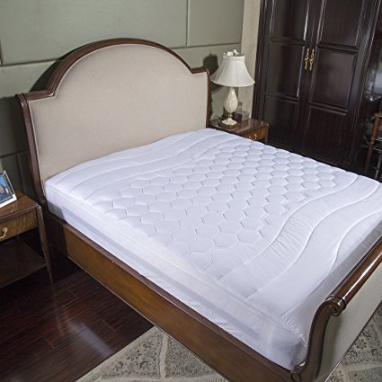 Normally as much as $75, this mattress pad is as much as 65 percent off right now (Photo via Amazon)