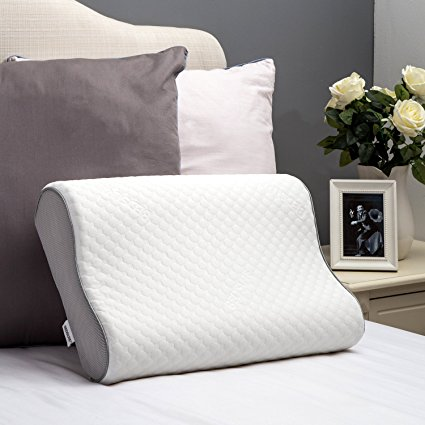 Normally $50, this memory foam pillow is 60 percent off with this code (Photo via Amazon)